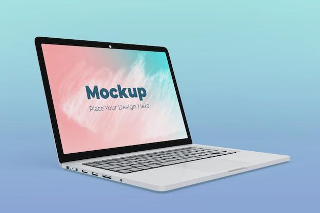 Realistische laptop-bildschirmmodell-entwurfsvorlage