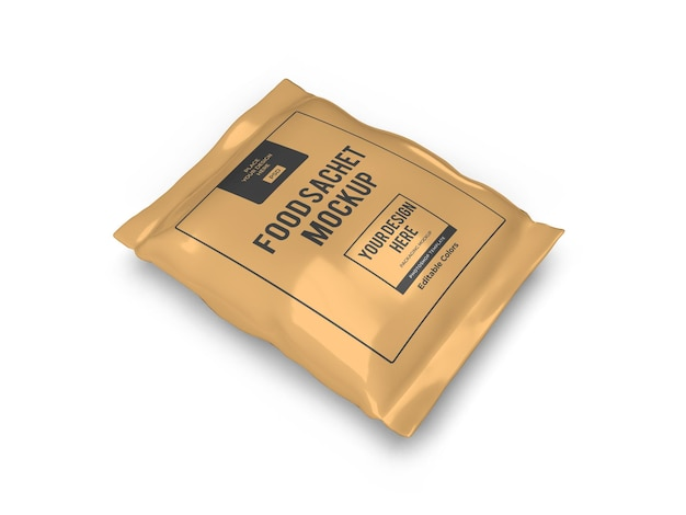 Realistische lebensmittelbeutelverpackung mockup-vorlage isoliert