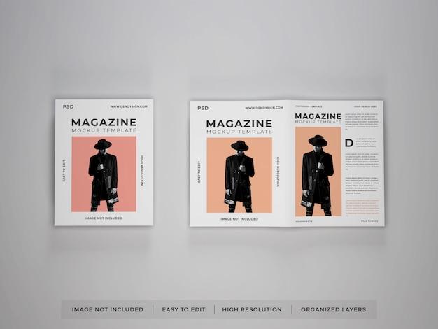 Realistische magazin-modellvorlage