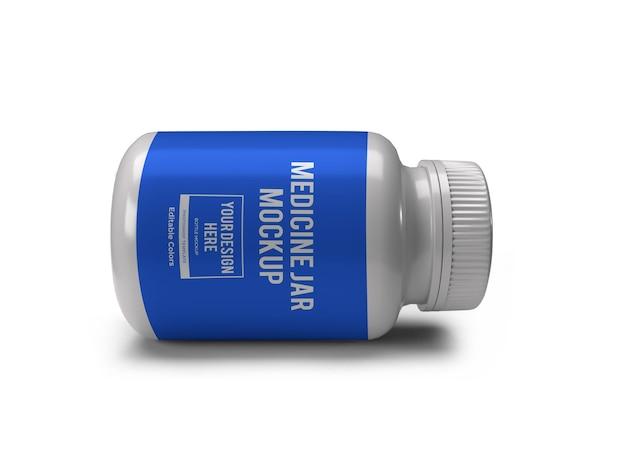 Realistische medizinflasche glas mockup vorlage isoliert