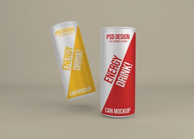 Realistische metall energy drink kann modell