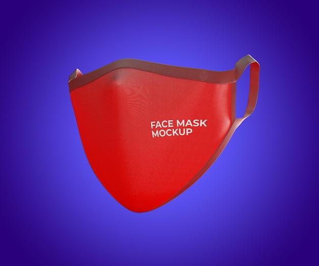 Realistische mockup-gesichtsmaske