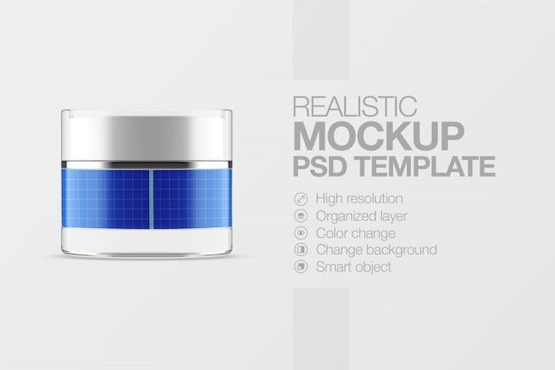 Realistische modell kosmetische topfcreme