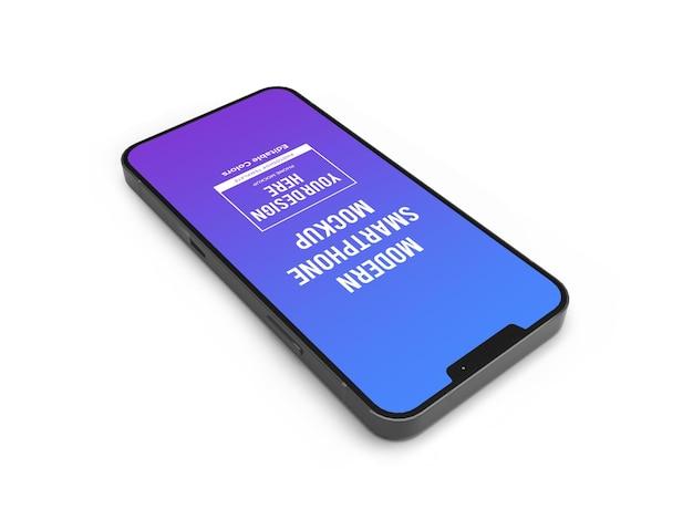 Realistische moderne smartphone-mockup-vorlage isoliert