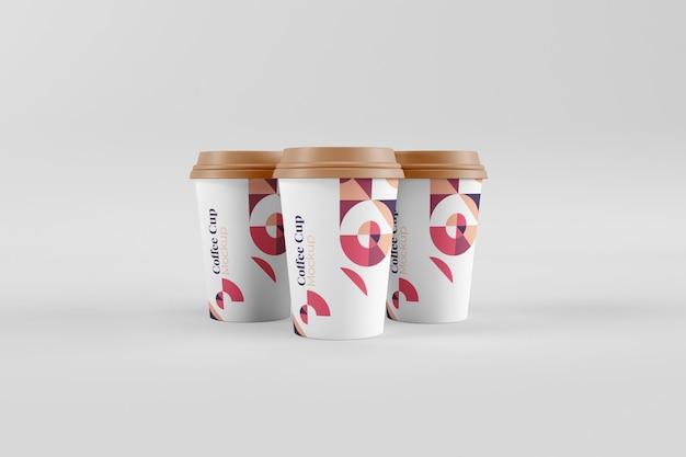 Realistische nützliche und stilvolle kaffeetassenmodelle