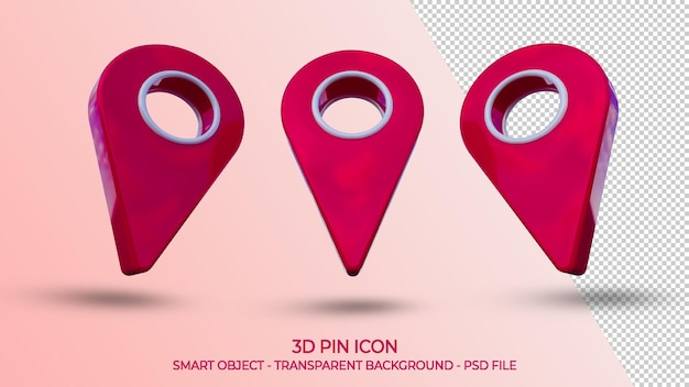 Realistische pin-symbol-position isoliert