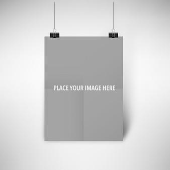 Realistische plakat mock-up