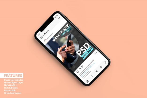 Realistische premium-telefonmodelle schliefen premium ein