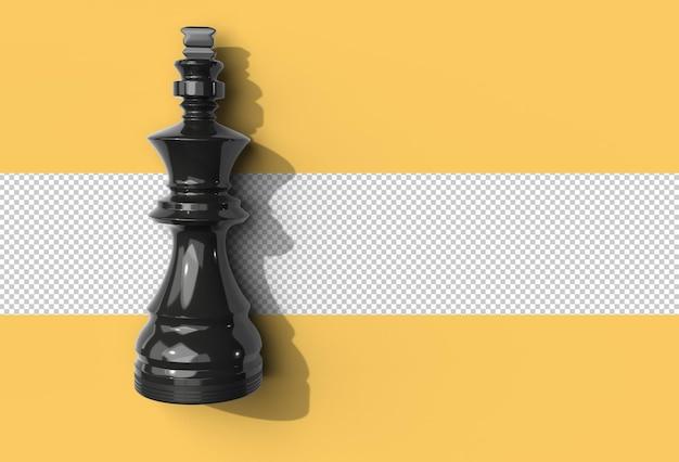 Realistische schachfigur transparente psd-datei.