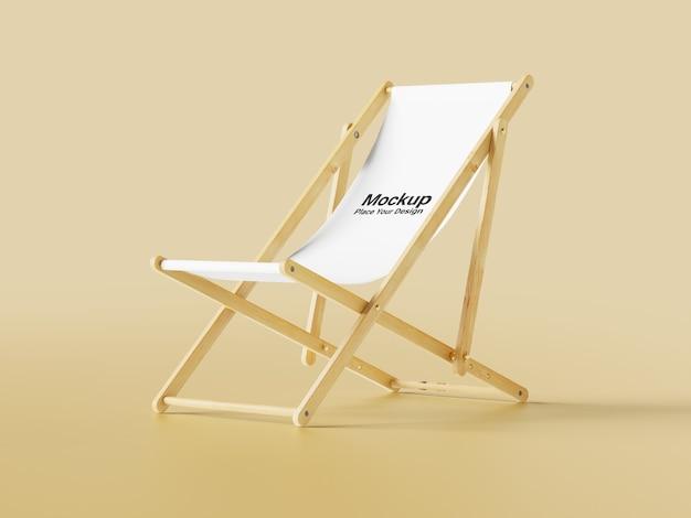 Realistische seitenansicht stuhl modell