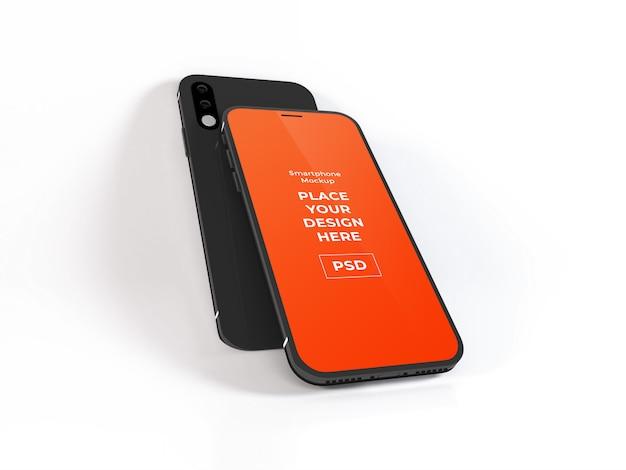 Realistische smartphone-modellvorlage