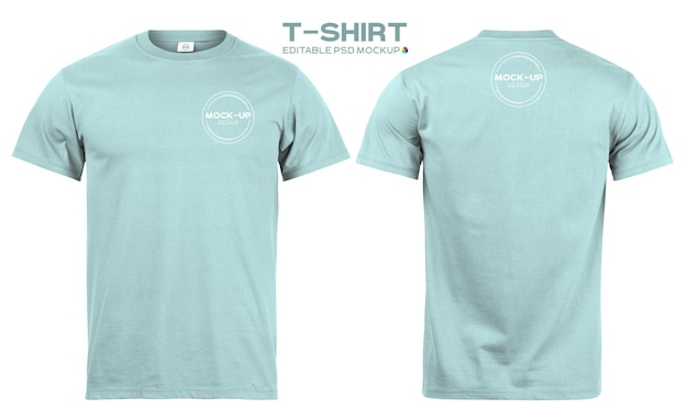 Realistische t-shirt-modellvorlage für ihr design.