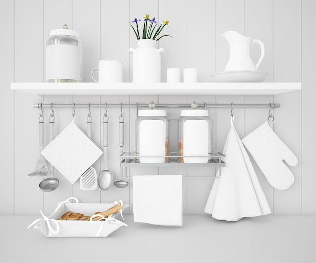 Realistische utensilien küchenmodell