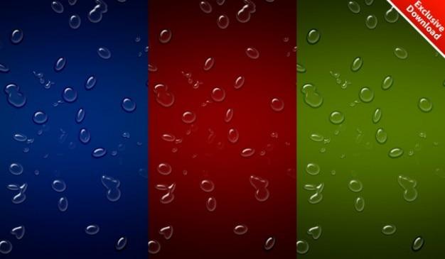 Realistische wassertropfen hintergrund in farben enthalten psd