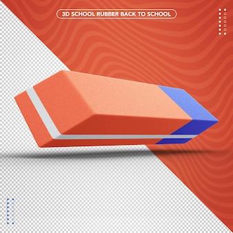 Realistischer 3d-gummi zurück zur schule