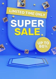 Realistischer 3d-superverkauf