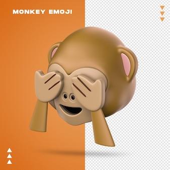 Realistischer affe emoji