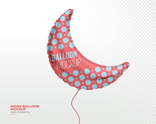Realistischer ballonmond 3d rendern