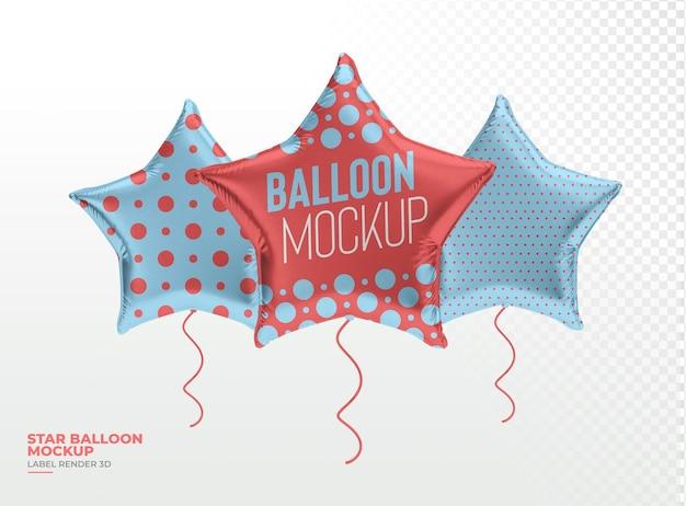 Realistischer ballonstern 3d rendern