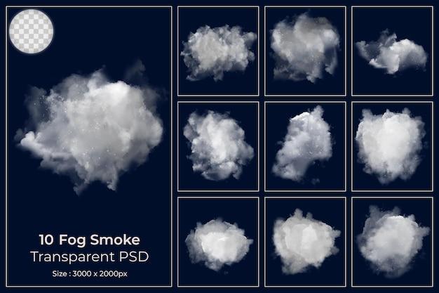 Realistischer nebel dampfnebelwolken eingestellt