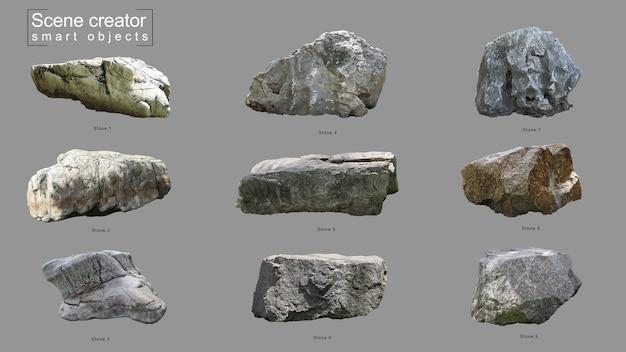 Realistischer stein-set-szenenschöpfer
