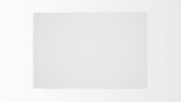 Realistischer weißer teppich auf draufsicht