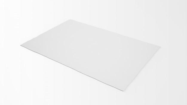 Realistischer weißer teppich