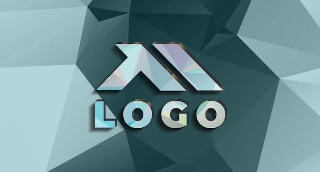 Realistisches 3d-logo-modell in der wand