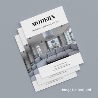 Realistisches a4-magazin oder broschürenmodell psd