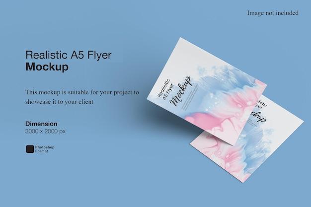 Realistisches a5 flyer mockup design rendering