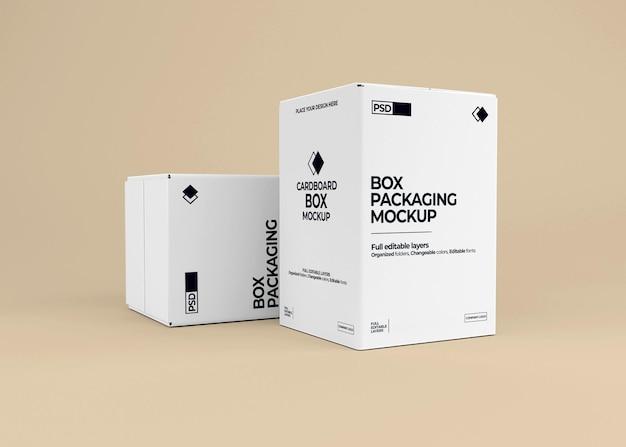 Realistisches boxmodell in der 3d-darstellung isoliert
