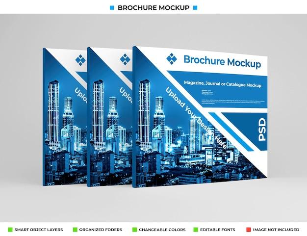 Realistisches breites broschüren-, tagebuch- oder broschürenmodell
