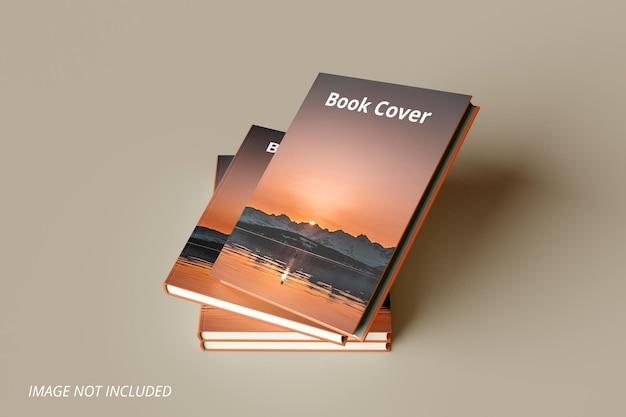 Realistisches buchcover-mockup-design premium psd