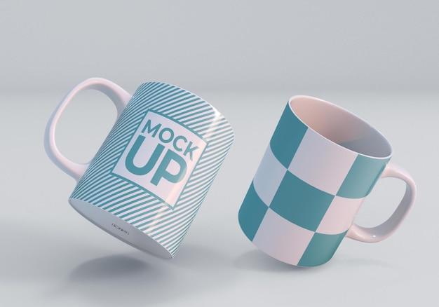 Realistisches drucken mockup mug design