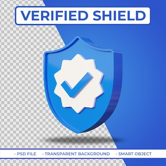 Realistisches flaches 3d verifiziertes benutzerschildsymbol isoliert