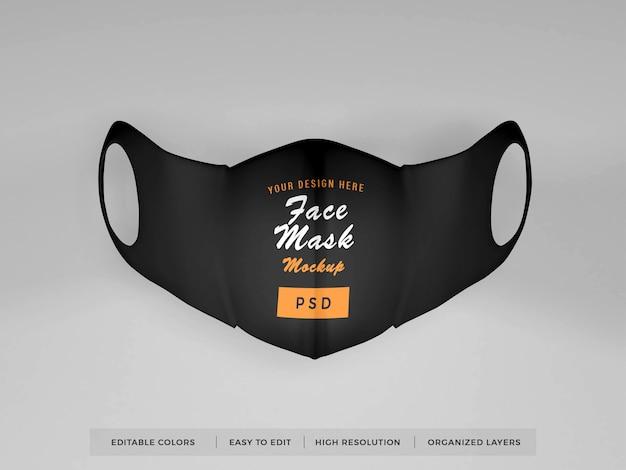 Realistisches gesichtsmaskenmodell Premium PSD