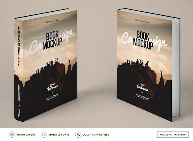 Realistisches hardcover-buchmodell-design
