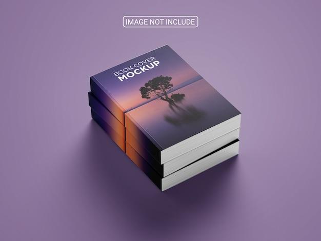 Realistisches hardcover-buchmodelldesign