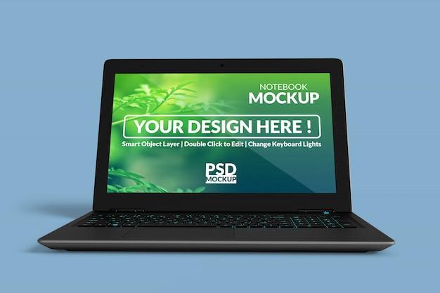 Realistisches, hochwertiges bildschirmmodell für laptops