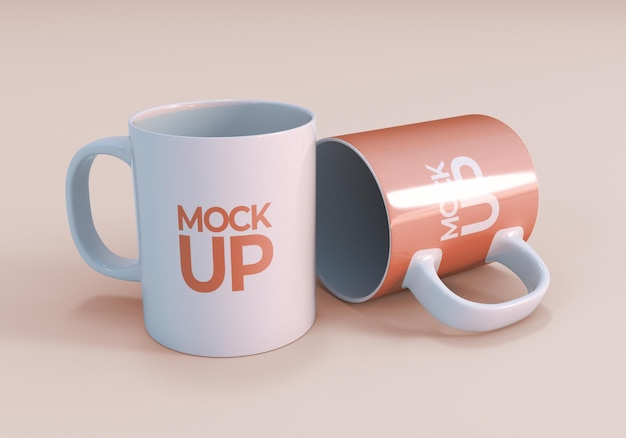Realistisches kaffeetassen-modelldesign