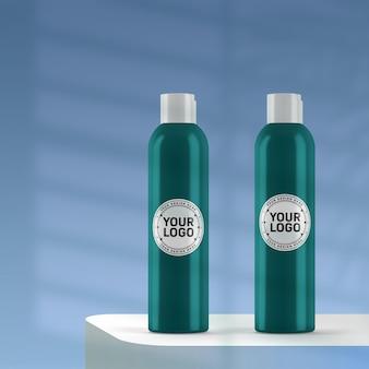 Realistisches kosmetisches flaschenmodell