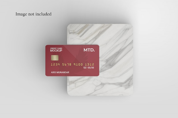 Realistisches kreditkartenmodell