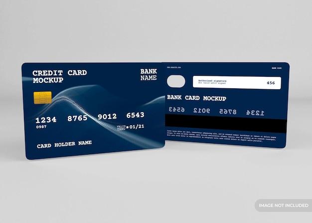 Realistisches kreditkartenmodellentwurf isoliert