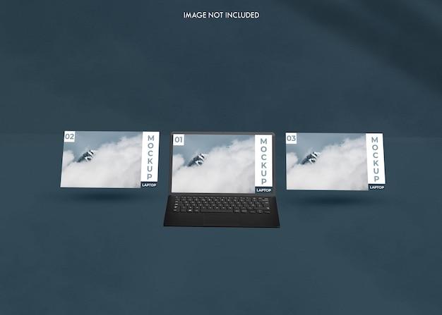 Realistisches laptop-bildschirmmodell