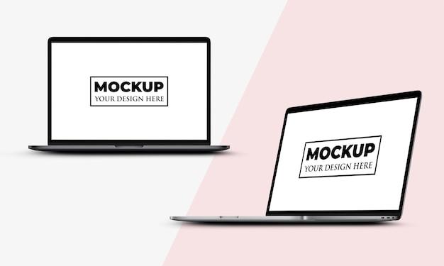 Realistisches laptop-bildschirmmodelldesign