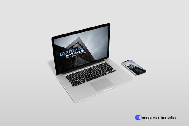 Realistisches laptop-modell premium psd