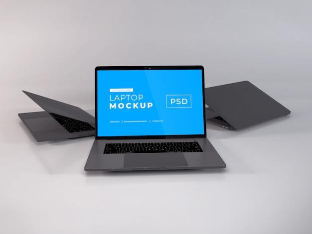 Realistisches laptop-modell