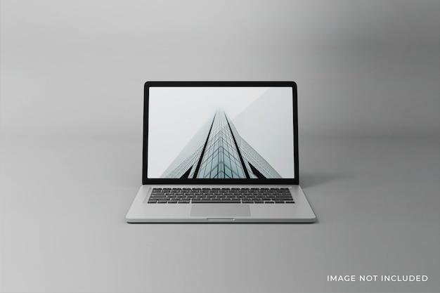 Realistisches laptopbildschirm-modelldesign