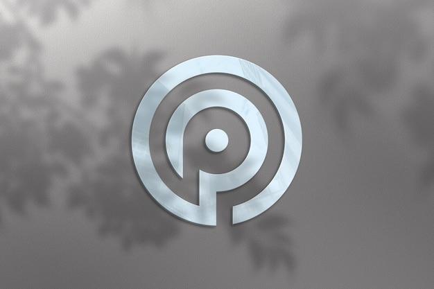 Realistisches logo-modelldesign mit pflanzenschatten