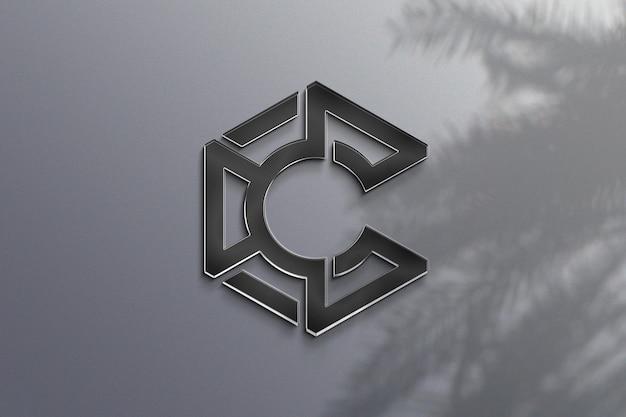 Realistisches logo-modelldesign mit schatten